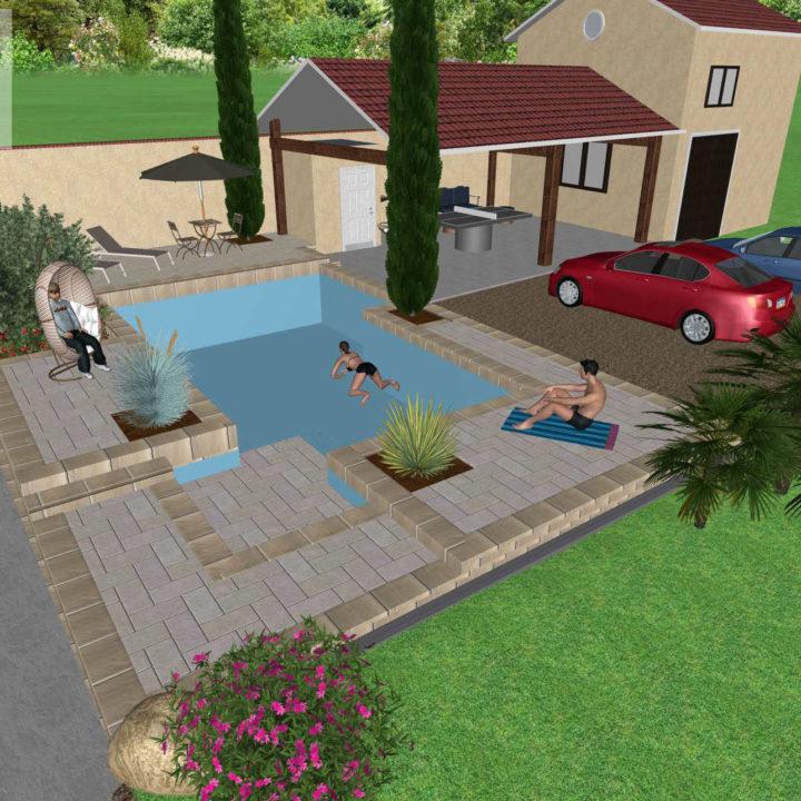 Simulation projet 3D (vidéo)
